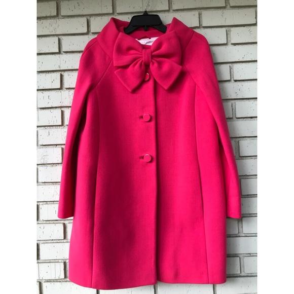 NWOT Kate Spade High collar bow coat